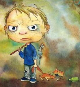 Cuando un niño maltrata a un animal.