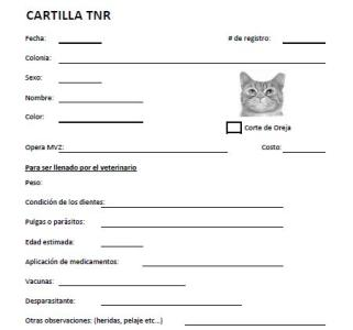 Cartilla TNR